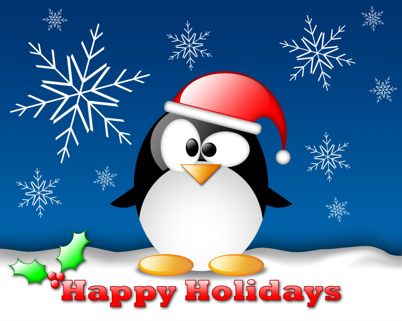 linux_tux_christmas_wallpaper